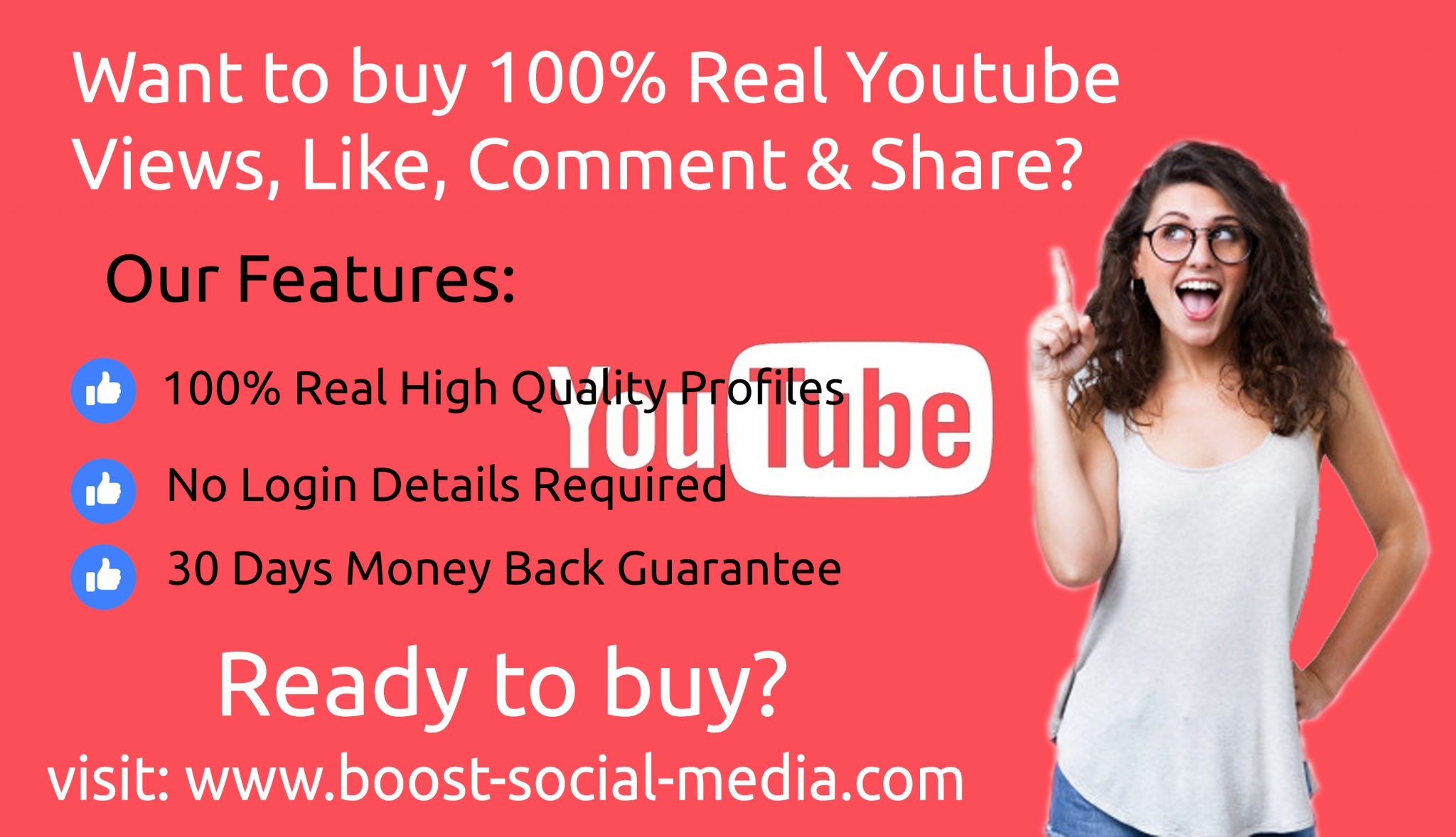 Buy Real YouTube Views, Likes, comment