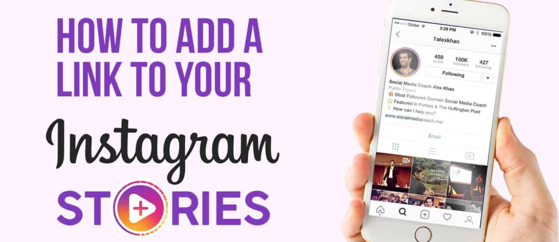 How to add a link to your instagram story