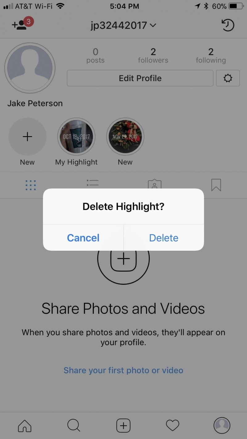 Delete highlights