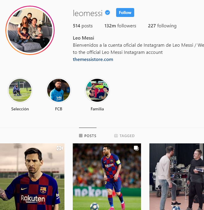 leo messi instagram account